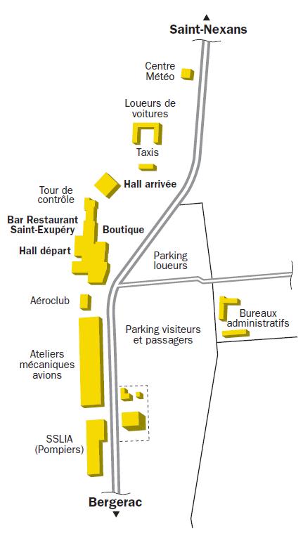 Plan de l'aéroport